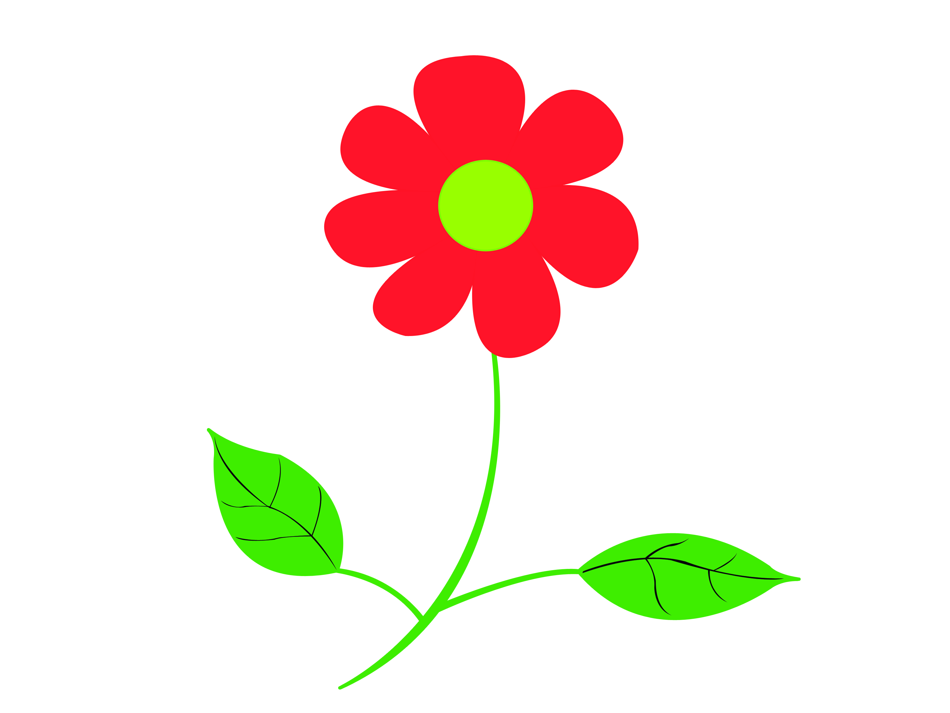 Easy Stepbystep Drawing Tutorial Red & Green Flowers Are Red Jacquelinesacs How  To Draw A Flower How To Draw A Cartoon Rose